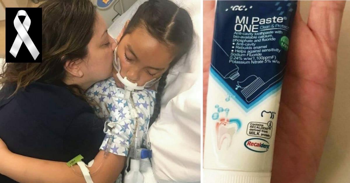 Desconsolada madre advierte a todos tras la muerte de su hija de 11 años por usar pasta de dientes